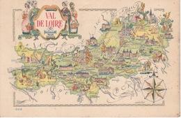 Carte Postale Couleur—CPSM—Dessin De Jacques Liozu—Carte Du Val De Loire - Illustrators & Photographers