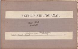 Carte Sur Toile De Tournai Feuille XIII - Topographical Maps