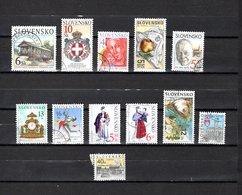 Eslovaquia   2000-2001  .-  Y&T  Nº   331-334-335-336-338-339-340-341-342-343-347-348 - Usados