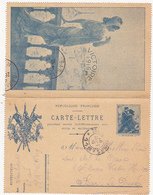 CARTE-LETTRE / 1916 - Postal Stamped Stationery