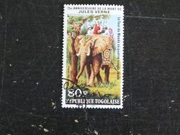 TOGO YT POSTE AERIENNE 424 OBLITERE - JULES VERNE ELEPHANT TOUR DU MONDE EN 80 JOURS - Togo (1960-...)