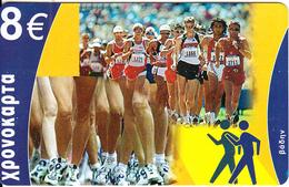 GREECE - Sports/Athletics, Amimex Prepaid Card 8 Euro, CN : AB+6 Digits, Tirage %5000, Mint - Sport