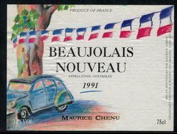 Beaujolais Nouveau 1991, Maurice Chenu, France - Voitures