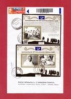 Bhutan -150th Birth Anniversary Of Mahatma Gandhi - MS & SS On Registered Cover To India, QR Code, Salt March, Quote, - Mahatma Gandhi