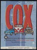 Ollon, COX, 10ème Anniversaire Meeting International à Château D'Oex - Voitures