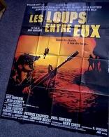 Aff Cine Orig LES LOUPS ENTRE EUX Claude Brasseur 1985 120X160cm - Posters