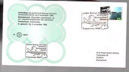 1986 1st Flight KLM Amsterdam > Zürich Suisse Swiitzerland LIMITED QUANTITY ISSUED (EW-66) - Briefe U. Dokumente