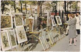 Paris - 'Montmartre' - Les Peintres Sur La Place Du Tertre - (1969) - Markten, Pleinen
