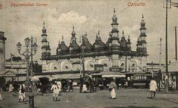 Calcutta - Dhuramtollah Corner - & Tram  INDIEN INDIA INDE - India
