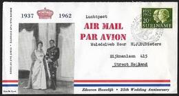 1962 - SURINAME - FDC - SG 502 + PARAMARIBO - Suriname ... - 1975