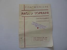 """Pieghevole Pubblicitario """"FISARMONICHE PAOLO SOPRANI - CASTELFIDARDO"""" Anni '50 - Pubblicitari"""