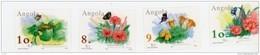 Angola 2001-Fleurs, Papillons-Belgica Expo PhilatéliqueYT 1507/10+B94***MNH - Farfalle