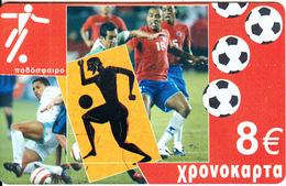 GREECE - Sports/Football, Amimex Prepaid Card 8 Euro, CN : AB+6 Digits, Tirage %5000, Mint - Sport