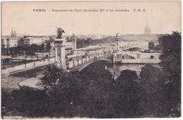 Paris - Panorama Du Pont Alexandre III Et Les Invalides.   T.M.K.  - (1919) - Frankrijk