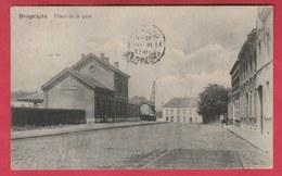 Brugelette - Place De La Gare + Gare - 1913  ( Voir Verso ) - Brugelette