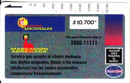 COLOMBIA(Tamura) - Marcacion Abreviada 2($10700), Used - Colombia