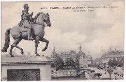 Paris - Statue De Henri IV Et Le Pont Neuf - (Feld-Poststation No. 6 Der 6. Armee, 1915) - FELDPOST - Standbeelden