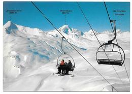 73 - LA ROSIERE - Lancebranlette, Le Mont Blanc, Les Grandes Jorasses - Ed. André N° 73 DA 11 - Télésiège - Francia