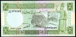 Syria 5 Pounds 1991 UNC - Siria