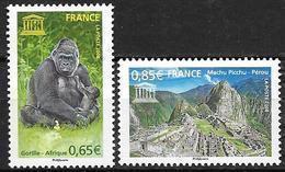 France 2008 Service N° 140/141 Neufs UNESCO à La Faciale - Service