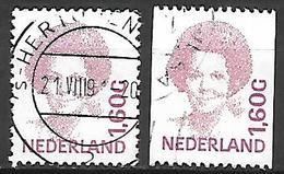 PAYS - BAS       -    1991 .   Y&T  N° 1380F Oblitérés  . - 1980-... (Beatrix)