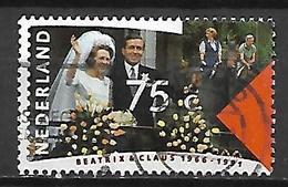 PAYS - BAS       -    1991 .   Y&T  N° 1370 Oblitéré.    Mariage Du Couple Royal - 1980-... (Beatrix)
