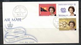 PNG 1977 QEII Silver Jubilee FDC - Papua New Guinea