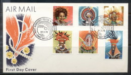 PNG 1978 Headresses 1,5,15,25,30,40t FDC - Papua New Guinea