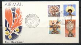 PNG 1978 Headresses 10,20,35,50t FDC - Papua New Guinea