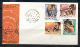 PNG 1979 Musical Instruments FDC - Papua New Guinea
