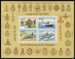 Falkland 1983 - Mi-Nr. Block 3 ** - MNH - Schiffe, Flugzeuge / Ships, Airplanes - Falklandinseln