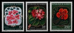 Dschibuti 1978 - Mi-Nr. 222-224 ** - MNH - Blumen / Flowers - Dschibuti (1977-...)
