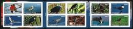 Franz. Polynesien 2010 - Mi-Nr. 1116-1127 ** - MNH - Heftchen - Vögel / Birds - Booklets