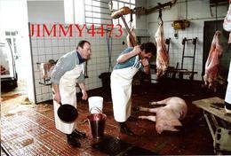CPM - La Tuerie Du Cochon - Abattoir De VALENCAY 36 Indre - Photo P. TOUCHARD - Scans Recto-Verso - Artisanat