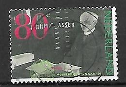 PAYS - BAS       -    1991 .   Y&T  N° 1384 Oblitéré.  Tobias Asser, Prix Nobel De La Paix 1911 - 1980-... (Beatrix)