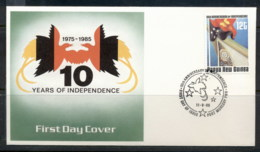 PNG 1985 Independence 10th Anniv. FDC - Papua New Guinea