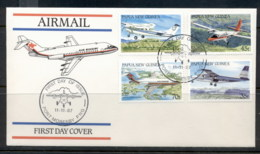 PNG 1987 Aeroplanes FDC - Papua New Guinea