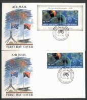 PNG 1988 Australian Bicentenary 2x FDC - Papua New Guinea