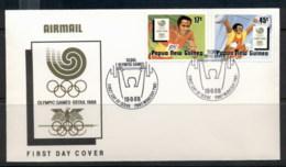 PNG 1988 Seoul Lympics FDC - Papua New Guinea