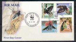 PNG 1988 WWF Butterflies FDC - Papua New Guinea