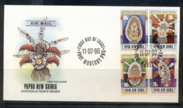 PNG 1990 Artefacts FDC - Papua New Guinea