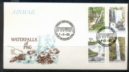 PNG 1990 Waterfalls FDC - Papua New Guinea
