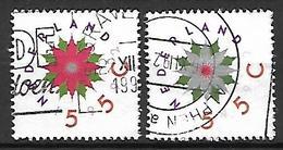 PAYS - BAS     -    1992 .   Y&T  N° 1422 / 1423 Oblitérés .   Fleurs Stylisées - 1980-... (Beatrix)
