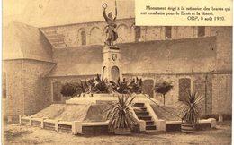 ORP Monument érigé à La Mémoire Des Braves Qui Ont Combattu Pour Le Droit Et La Liberté. 08/08/1920. - Orp-Jauche