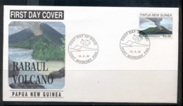 PNG 1995 Rabaul Volcano FDC - Papua New Guinea