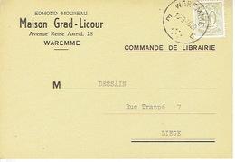 CP  Publicitaire WAREMME 1959 - MAISON  GRAD-LICOUR - Edmond MOUREAU - Librairie - Papeterie - Waremme