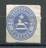BRUNSW - Yv. N° 14 Mi. N°19  Percé En Scie  (*)  1g   Bleu   Cote  11 Euro  BE   2 Scans - Braunschweig