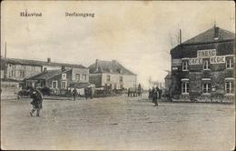 Cp Hauviné Ardennes, Dorfausgang, Tabac Café Régie - France