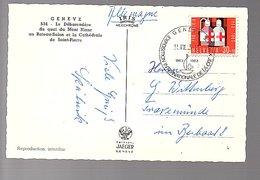 EXPOSITION INT. DE LA CROIX ROUGE Red Cross 1963 Saint-Piierre  Cathedral & Ship (232) - Schweiz