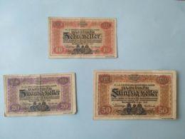 10 20 50 Heller 1916 Lagher Majmasker - Austria
